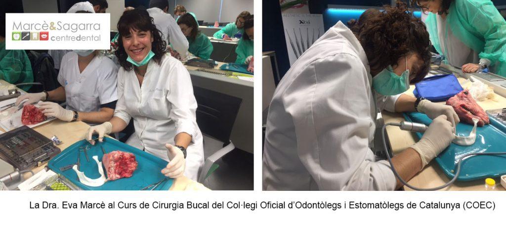 La Dra. Marcè al curs de dirurgia bucal
