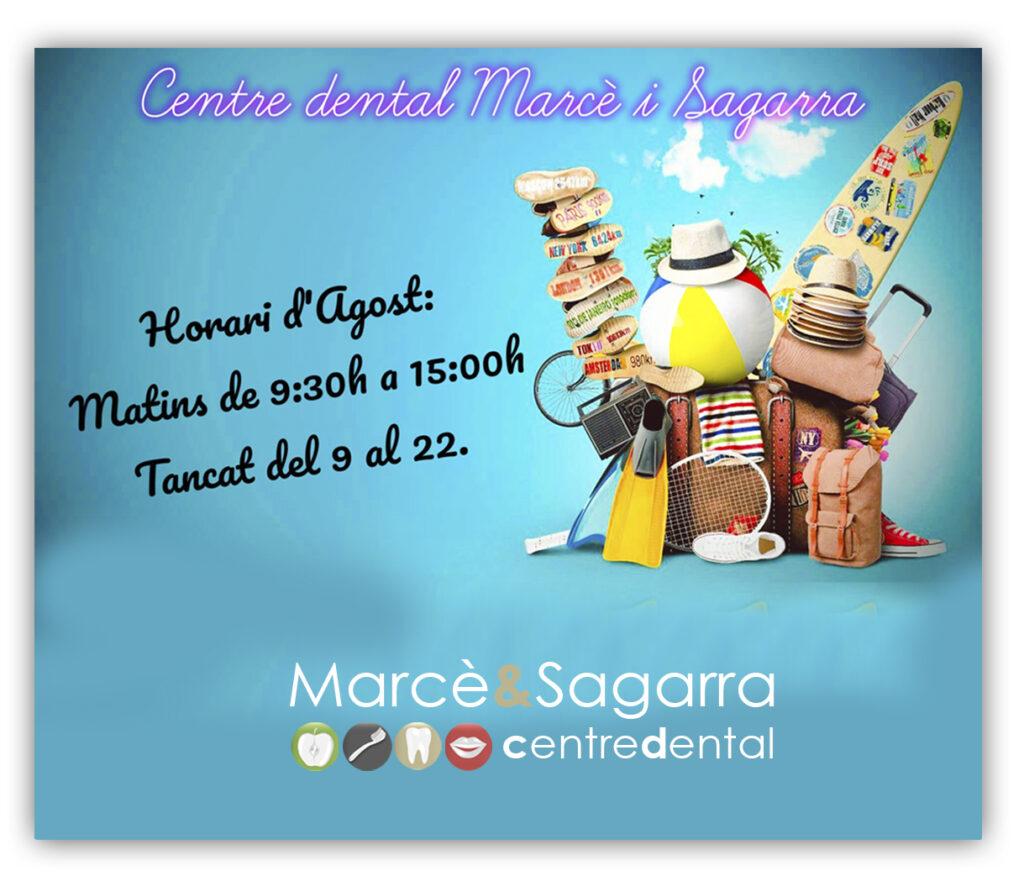 Horari d'estiu del centre dental Marcè & Sagarra